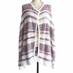 Tommy Hilfiger Knit Open Front Poncho Sweater OS